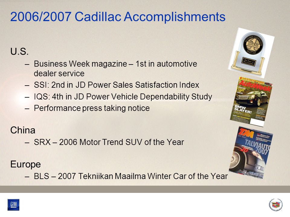 2006/2007 Cadillac Accomplishments U.S.