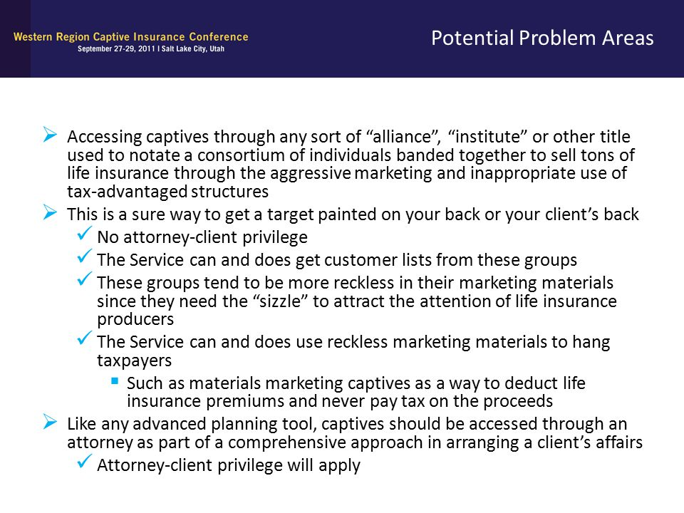 """Potential Problem Areas  Accessing captives through any sort of """"alliance"""", """"institute"""" or other title used to notate a consortium of individuals ban"""