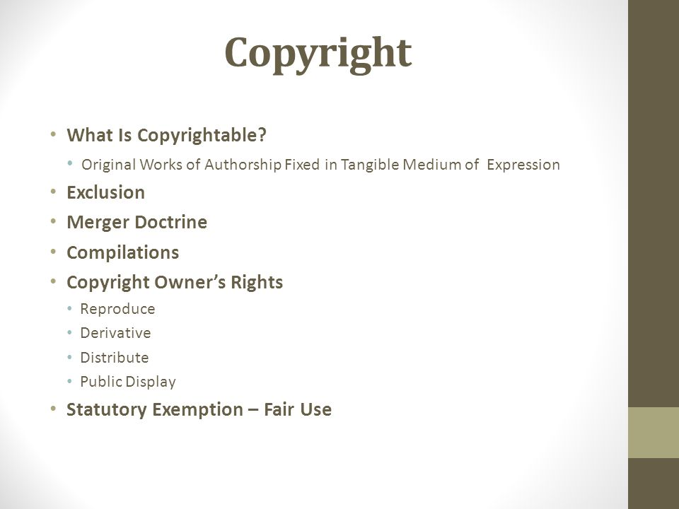 Copyright What Is Copyrightable.