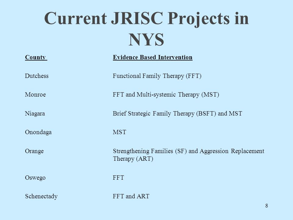 Impact of JRISC Approach statewide 2008 187 high risk youth entered JRISC, 30 completed within that calendar year, and 21 of those cases closed successfully with measurable reductions in their risk of recidivism.