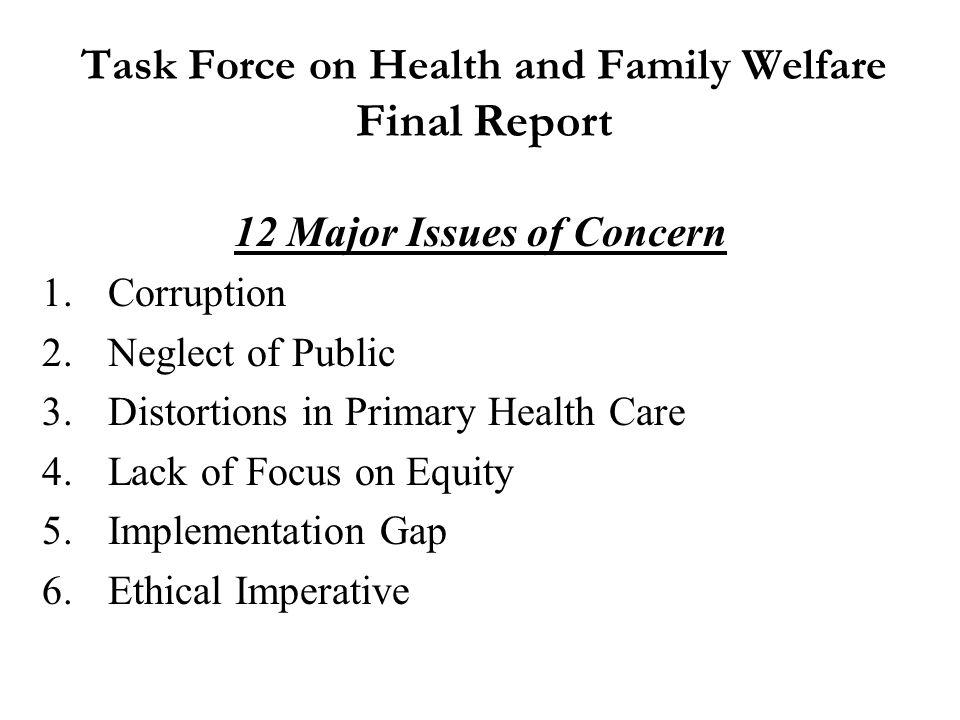Re-organization & Re-structuring of Karnataka Health & Family Welfare Department