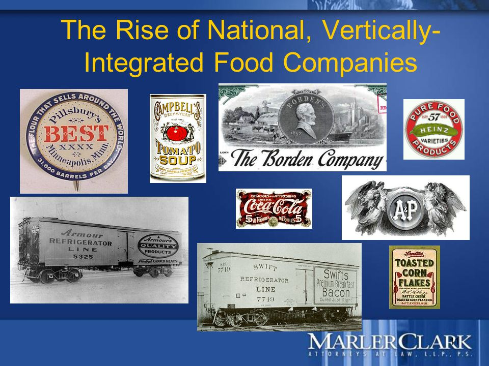 11 The Rise of National, Vertically- Integrated Food Companies