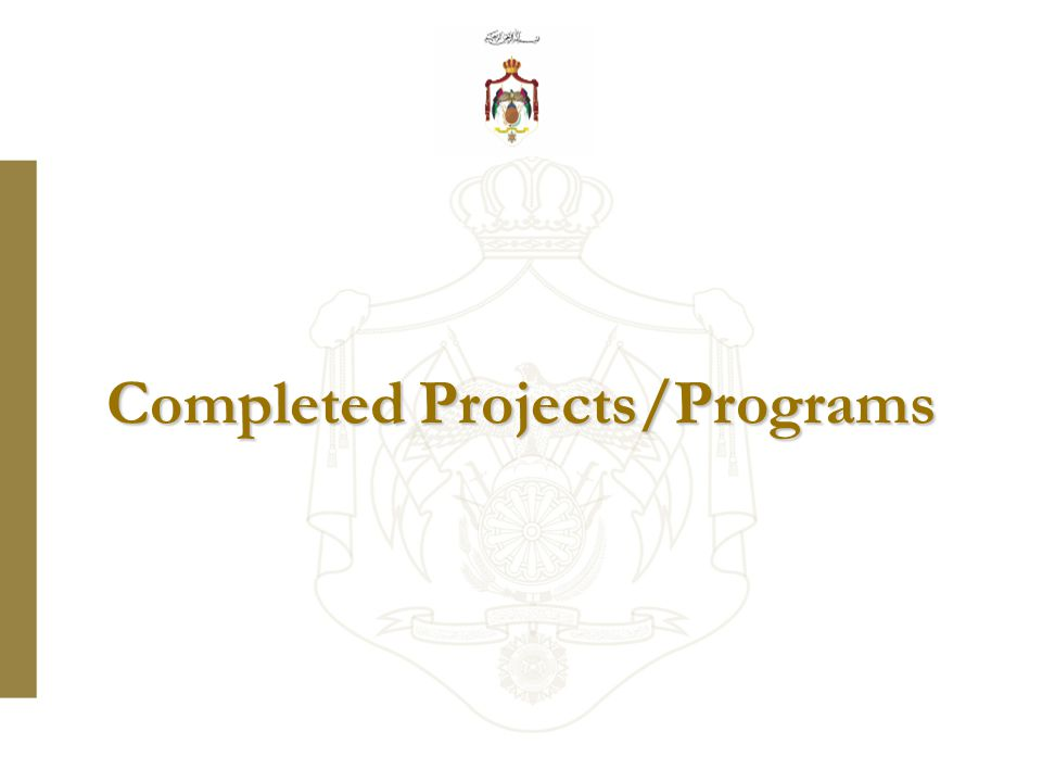 Completed Projects/Programs