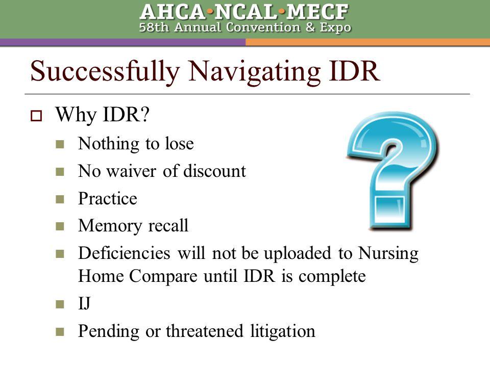  Why IDR.