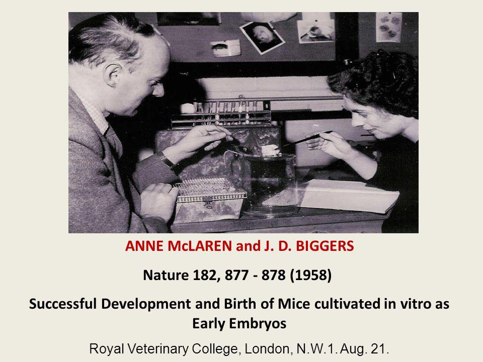 ANNE McLAREN and J. D.