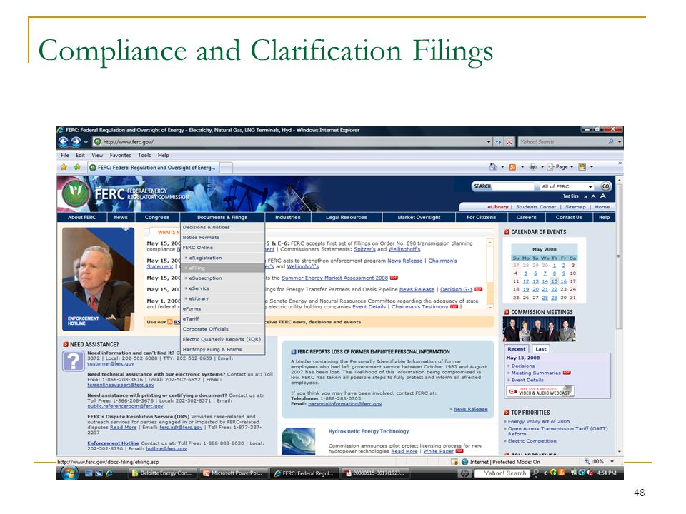 48 Compliance and Clarification Filings