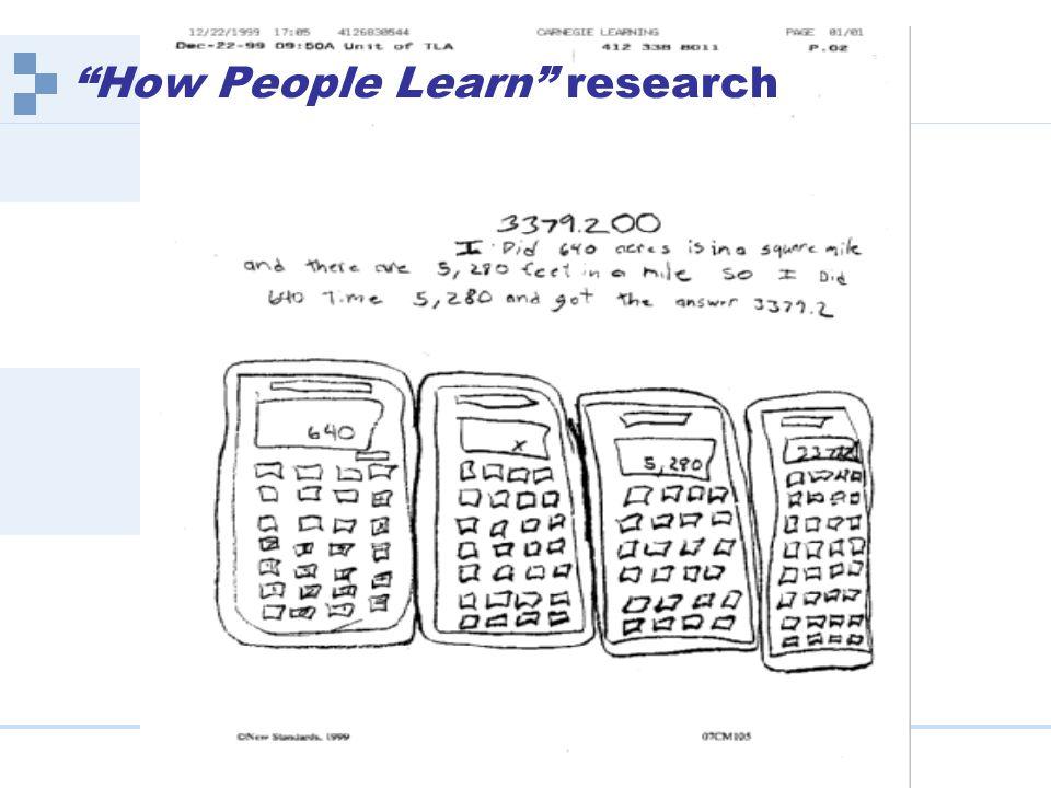 Carnegie Learning | www.carnegielearning.com How People Learn research