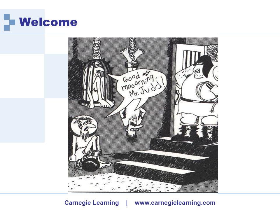 Carnegie Learning | www.carnegielearning.com Bridge to Algebra
