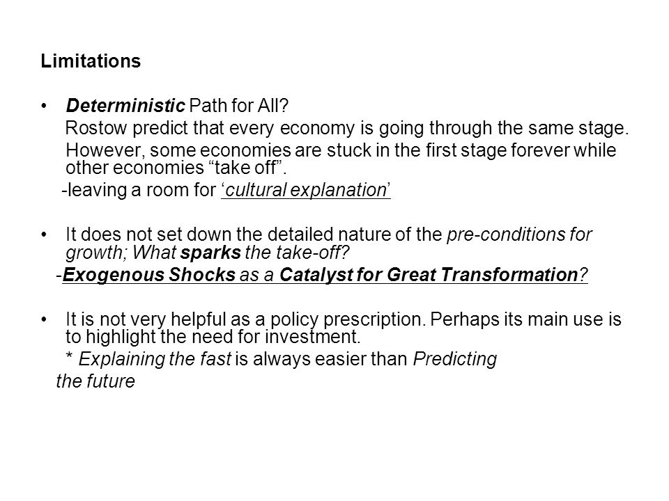 Limitations Deterministic Path for All.
