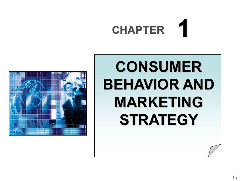 CHAPTER 1 CONSUMER BEHAVIOR AND MARKETING STRATEGY 1-3
