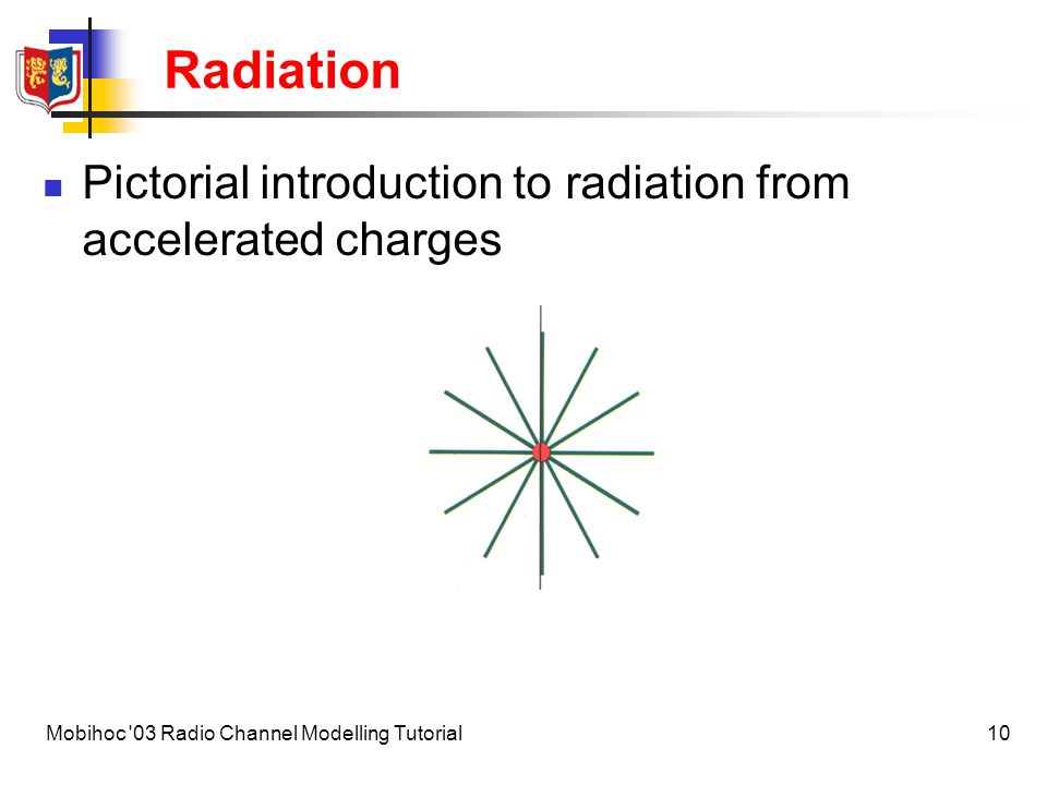 11Mobihoc 03 Radio Channel Modelling Tutorial Radiation Pictorial introduction to radiation from accelerated charges