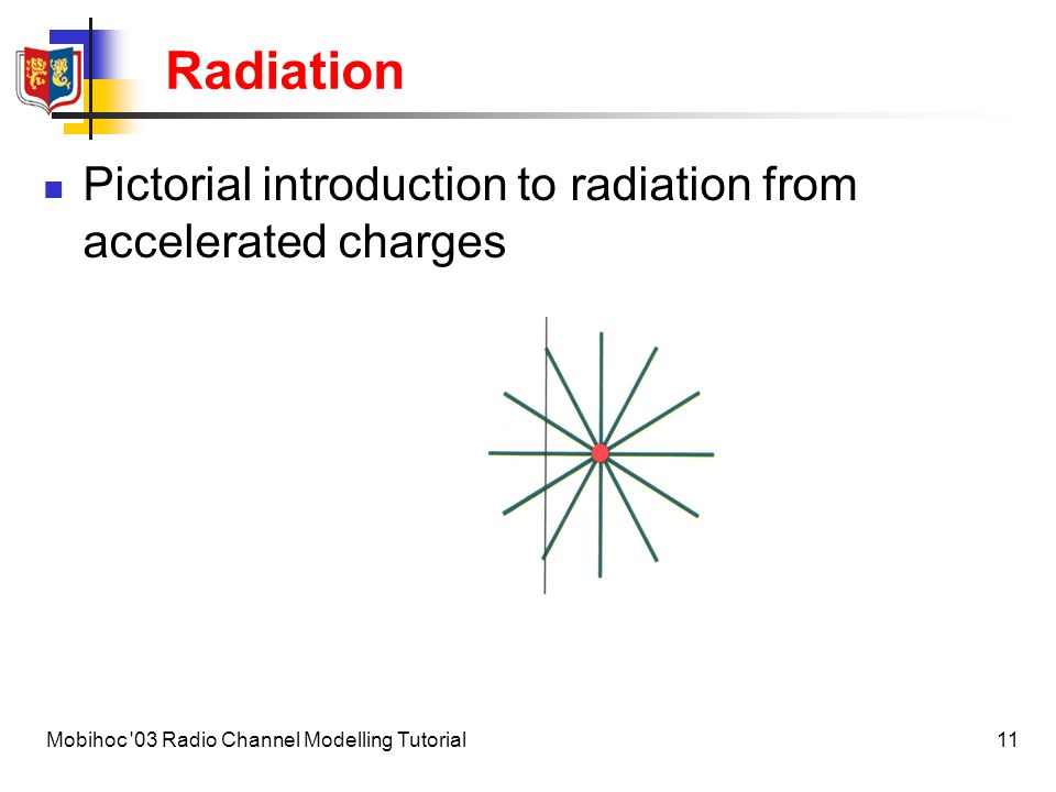 12Mobihoc 03 Radio Channel Modelling Tutorial Radiation Fields around a charge in non-uniform motion