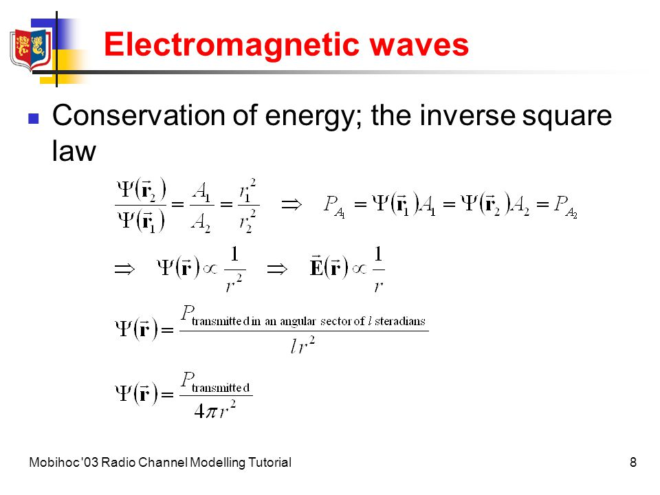 9Mobihoc 03 Radio Channel Modelling Tutorial Radiation Pictorial introduction to radiation from accelerated charges