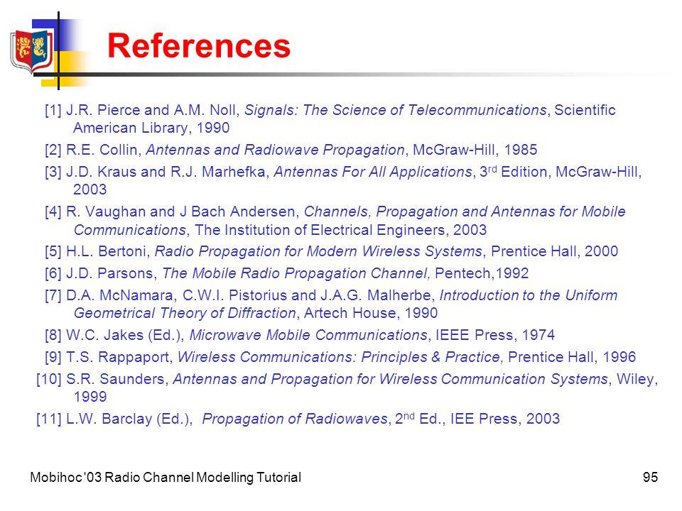 96Mobihoc 03 Radio Channel Modelling Tutorial Illustration credits Figures on pp.3,7 © Scientific American Library [J.R.
