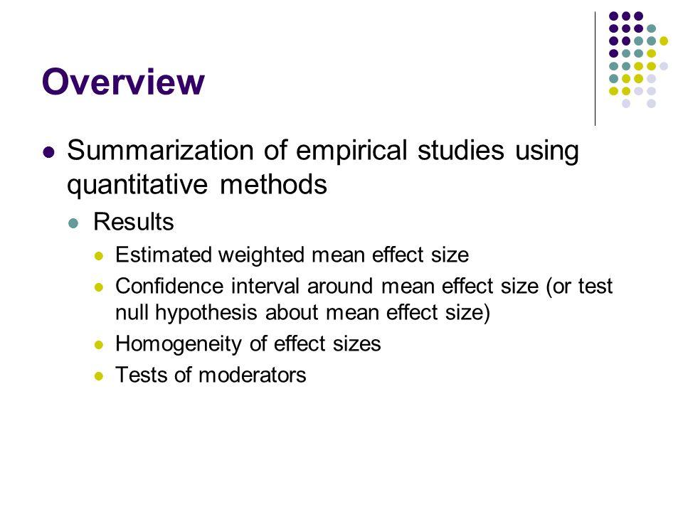 Overview: Why Meta-Analyze.