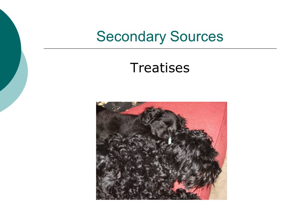 Secondary Sources Treatises