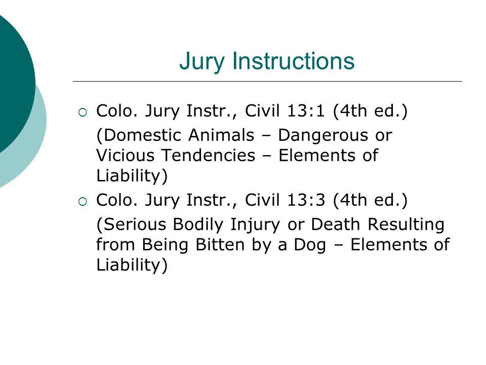 Jury Instructions  Colo.