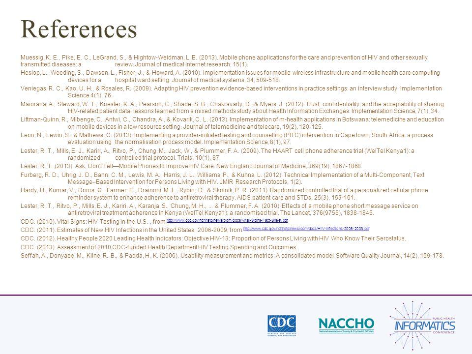 References Muessig, K. E., Pike, E. C., LeGrand, S., & Hightow-Weidman, L.