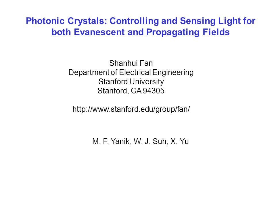 W.Suh, M. F. Yanik, O. Solgaard, S. Fan, Applied Physics Letters, 82, 1999 (2003).