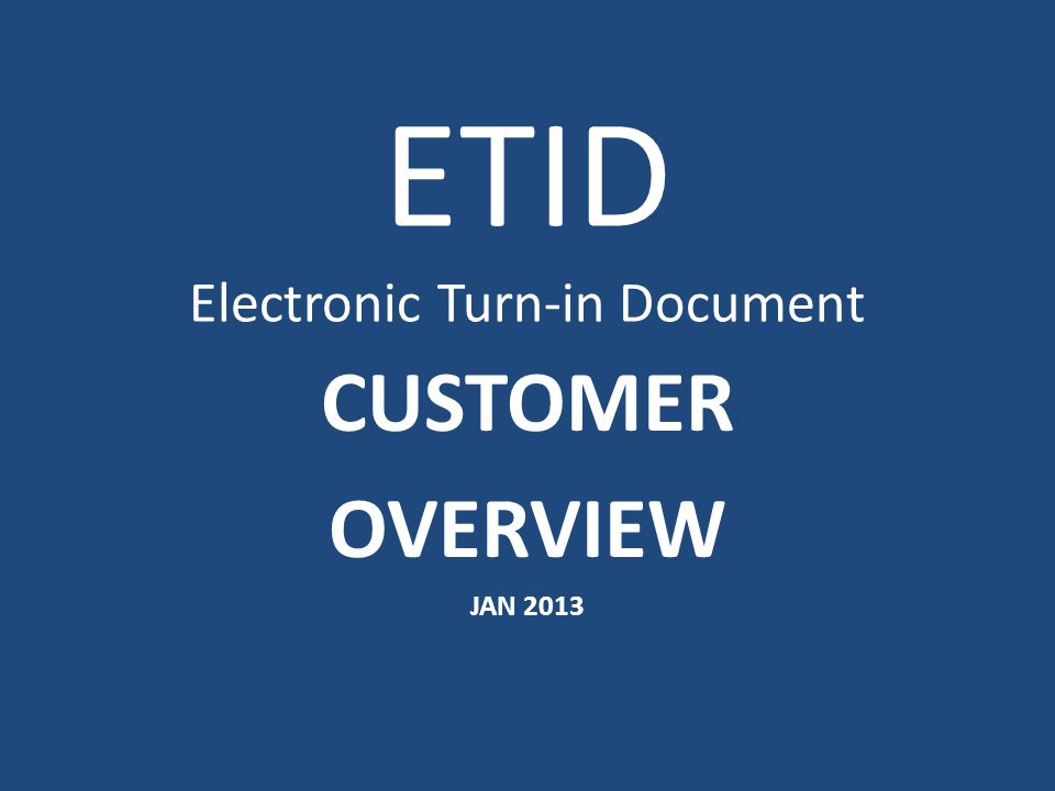 To attach a document or image to an ETID, click on Attach Images/Documents.