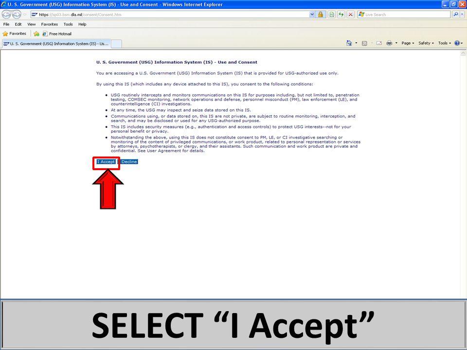 "SELECT ""I Accept"""