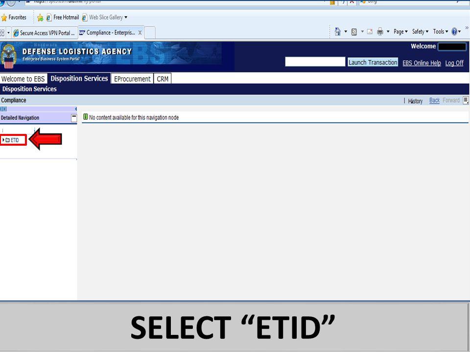 """SELECT """"ETID"""""""