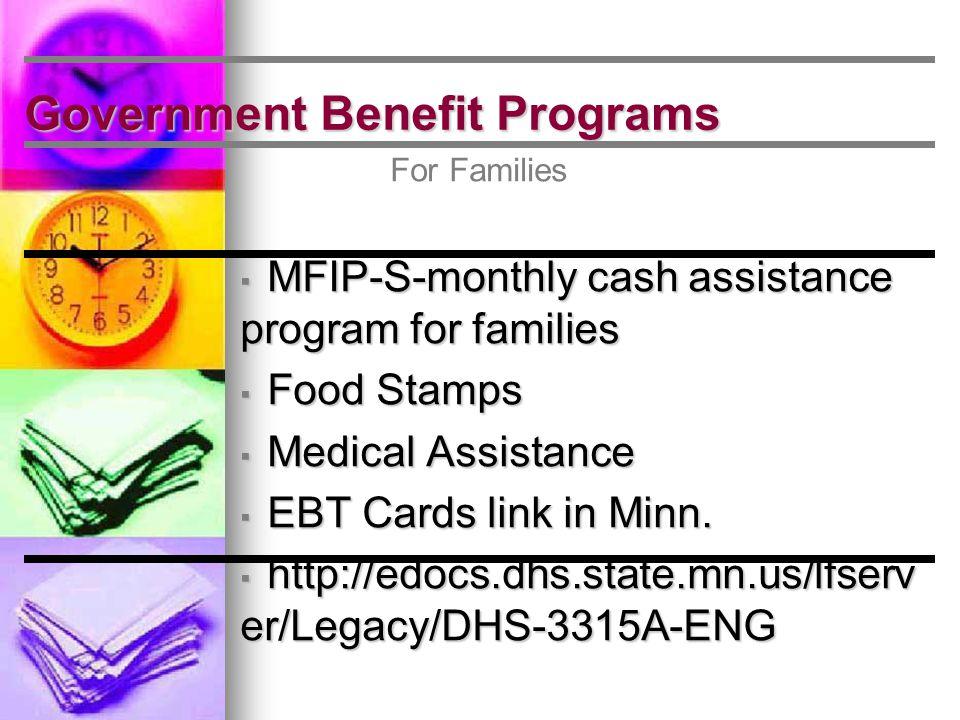 General Assistance Categorical Eligibility Exercises Minn. Stat. 256D.05