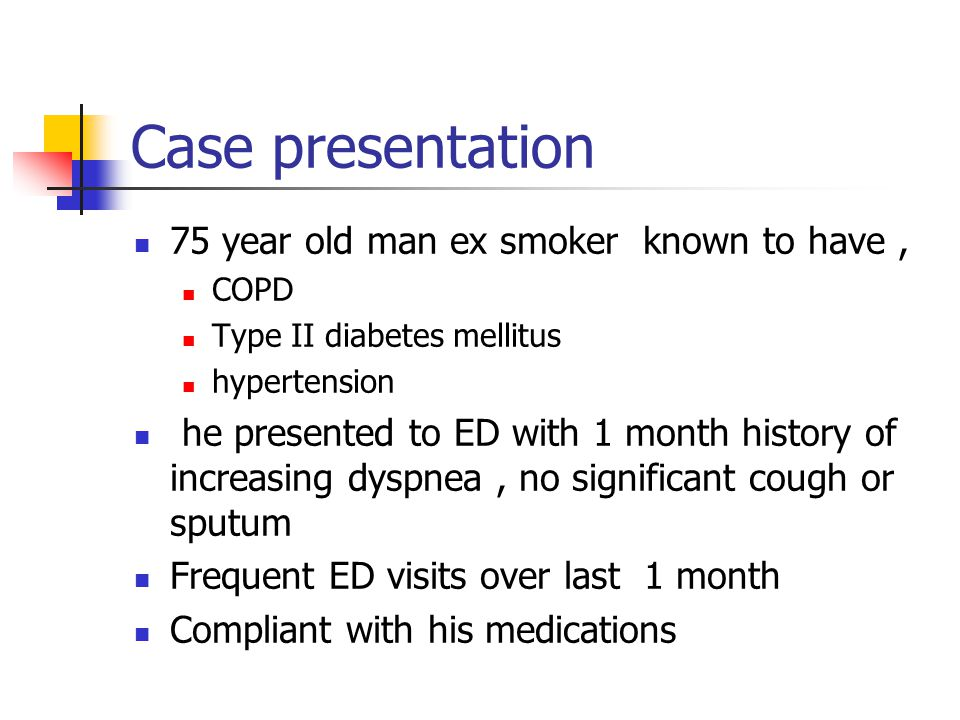Response to oxygen administration — There are three possible outcomes when administering uncontrolled oxygen therapy to a patient with COPD and respiratory insufficiency [28]:28 The patient s clinical state and PaCO 2 may improve or not change The patient may become drowsy but can be roused to cooperate with therapy; in these cases, the PaCO 2 generally rises slowly by up to 20 mmHg and then stabilizes after approximately 12 hours The patient rapidly becomes unconscious, cough becomes ineffective, and the PaCO 2 rises at a rate of 30 mmHg or more per hour The risk for developing severe hypercapnia and CO 2 narcosis is greater in patients with a low initial pH and/or PaO 2 [28,29].28,29 In a retrospective study of 95 patients with COPD and hypercapnia who presented with acute respiratory distress, oxygen therapy targeting a PaO 2 >74 mmHg was associated with increased length of stay, increased need for noninvasive mechanical ventilation, and increased rate of admission to an ICU [30].