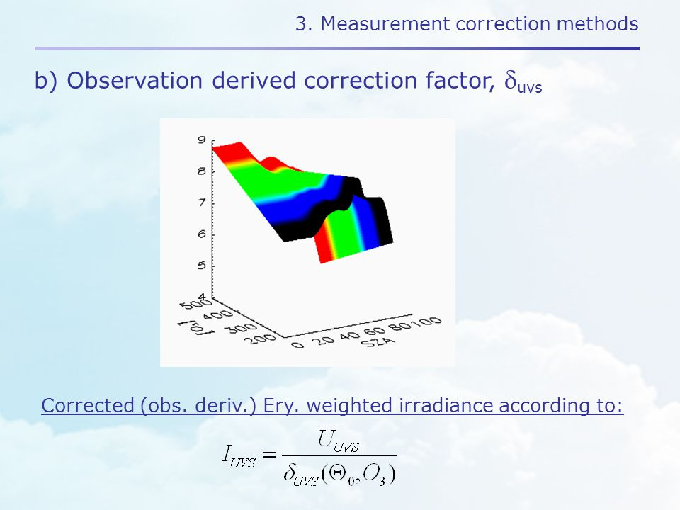 3. Measurement correction methods Corrected (obs.