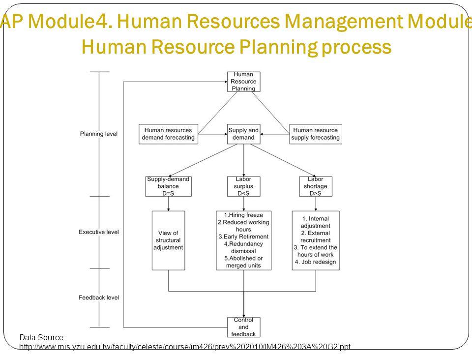 SAP Module4. Human Resources Management Module - Human Resource Planning process Data Source: http://www.mis.yzu.edu.tw/faculty/celeste/course/im426/p