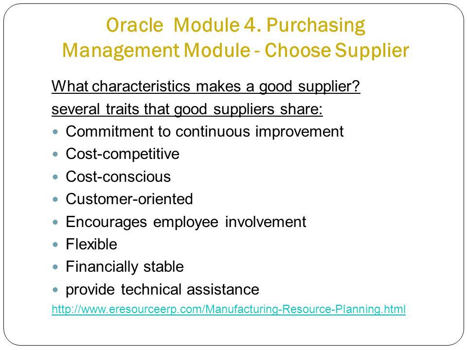 Oracle Module 4.