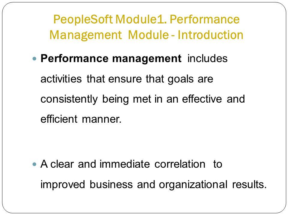 PeopleSoft Module1.