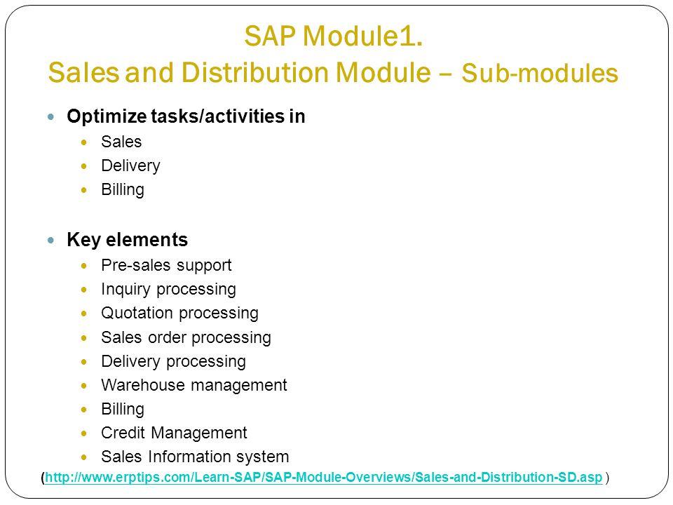 SAP Module1.