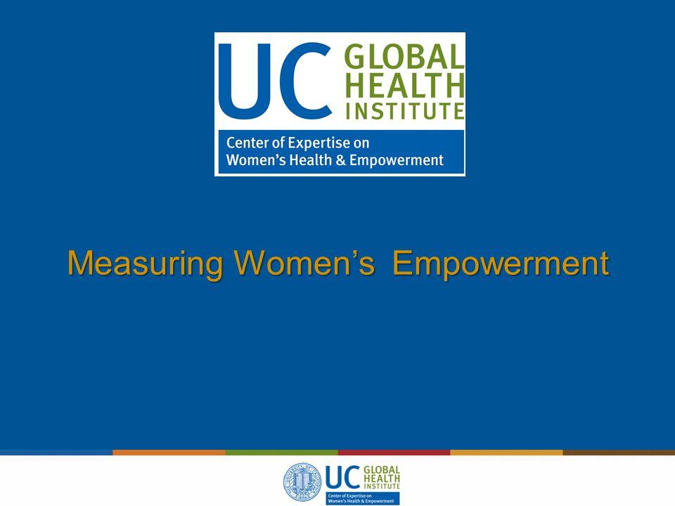 Measuring Women's Empowerment