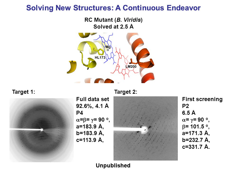 Solving New Structures: A Continuous Endeavor Unpublished Solving New Structures: A Continuous Endeavor RC Mutant (B.
