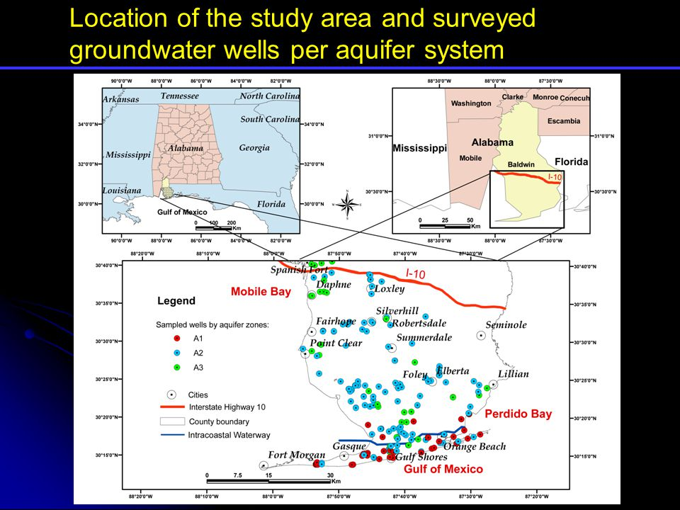 Aquifer zone A1: a) Chloride concentration map.