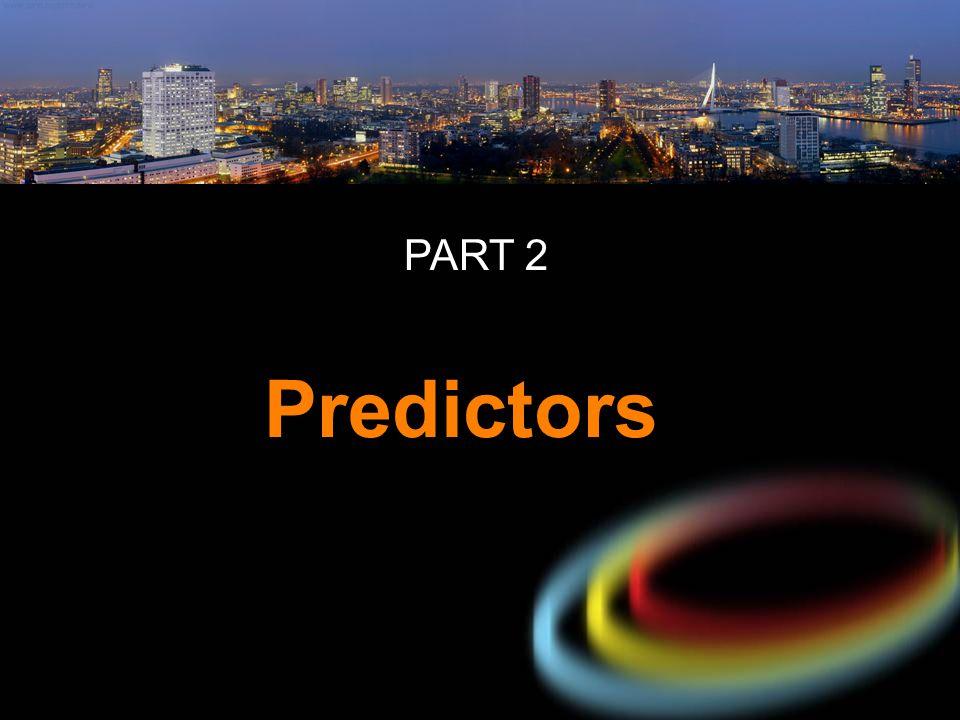 Predictors PART 2