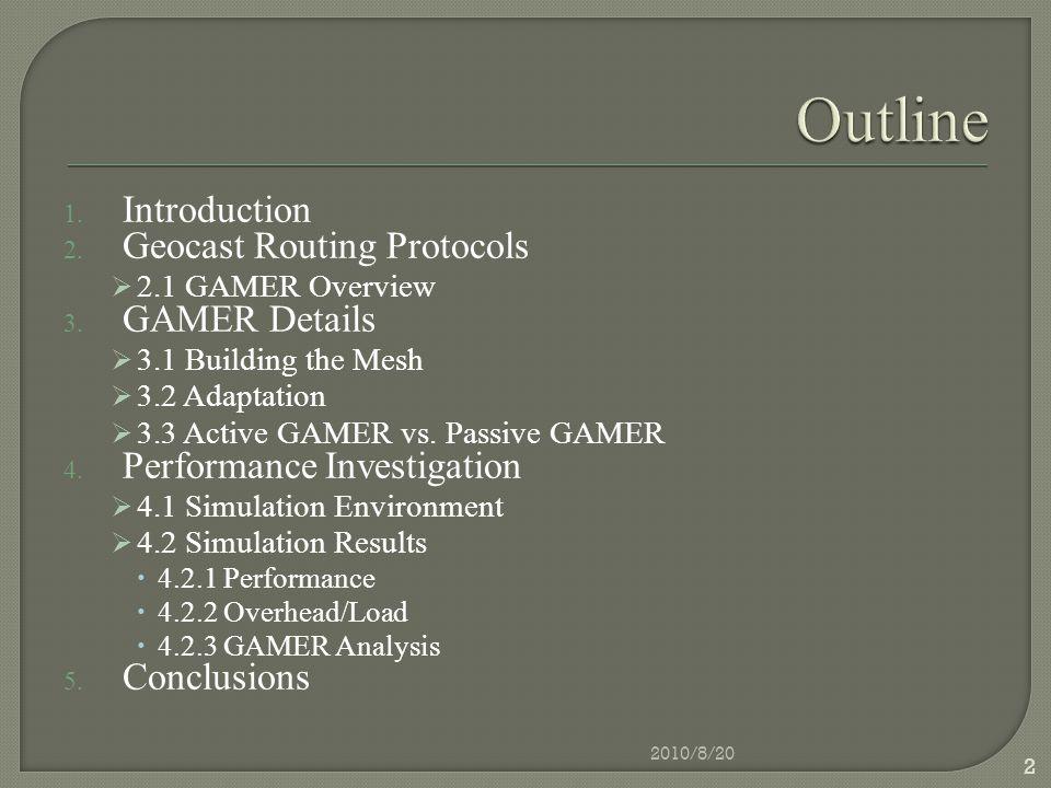4.1 Simulation Environment 2010/8/20 23
