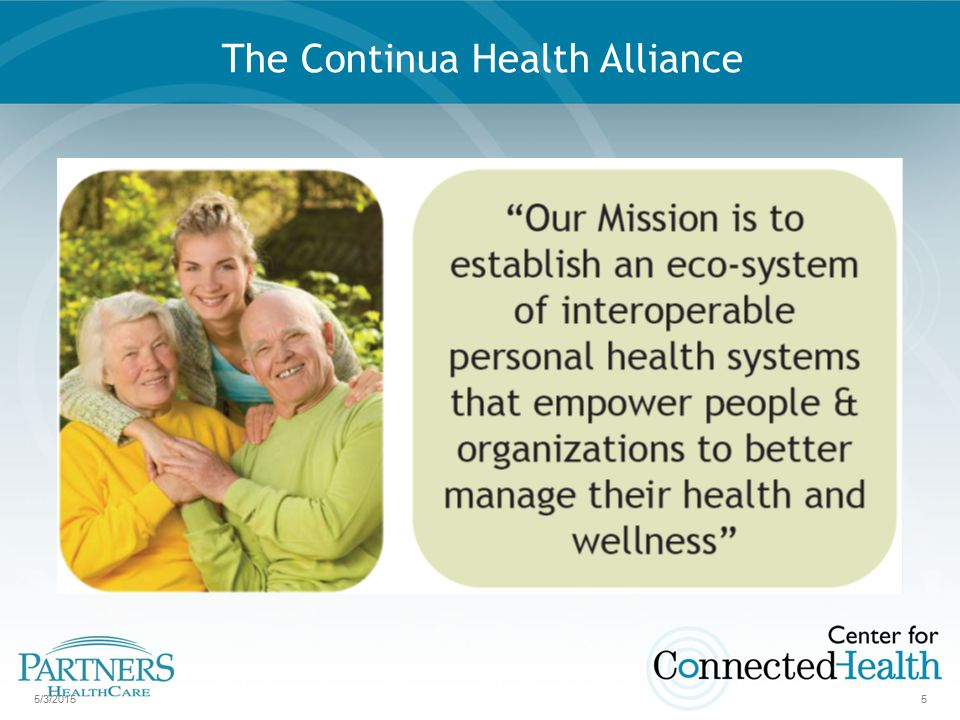 5/3/20155 The Continua Health Alliance