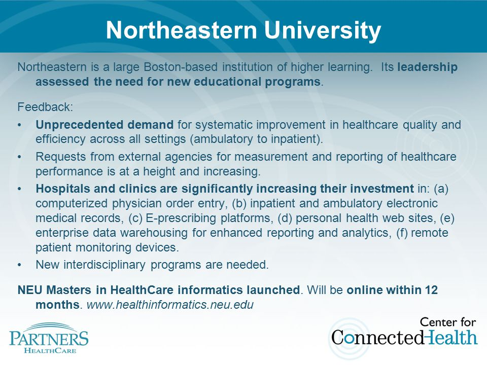 Ways to Learn More… Join our discussion at www.connected-health.org Recently published: Home Telehealth Attend the Partners 2009 annual Symposium on October 21-22 in Boston