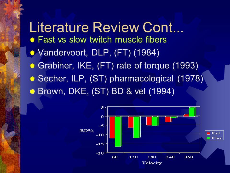 Literature Review Cont...