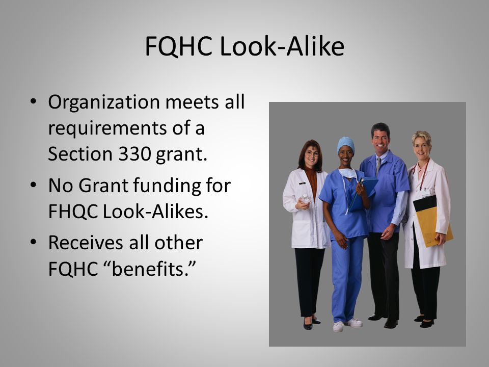 State-Funded CHCs Must meet a set of minimum standards outlined by the state These standards are less stringent than FQHC standards Must have a consumer-driven governing board