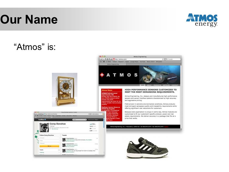 Our Name Atmos is: