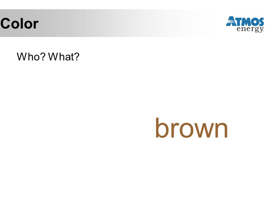 Color Who? What? brown