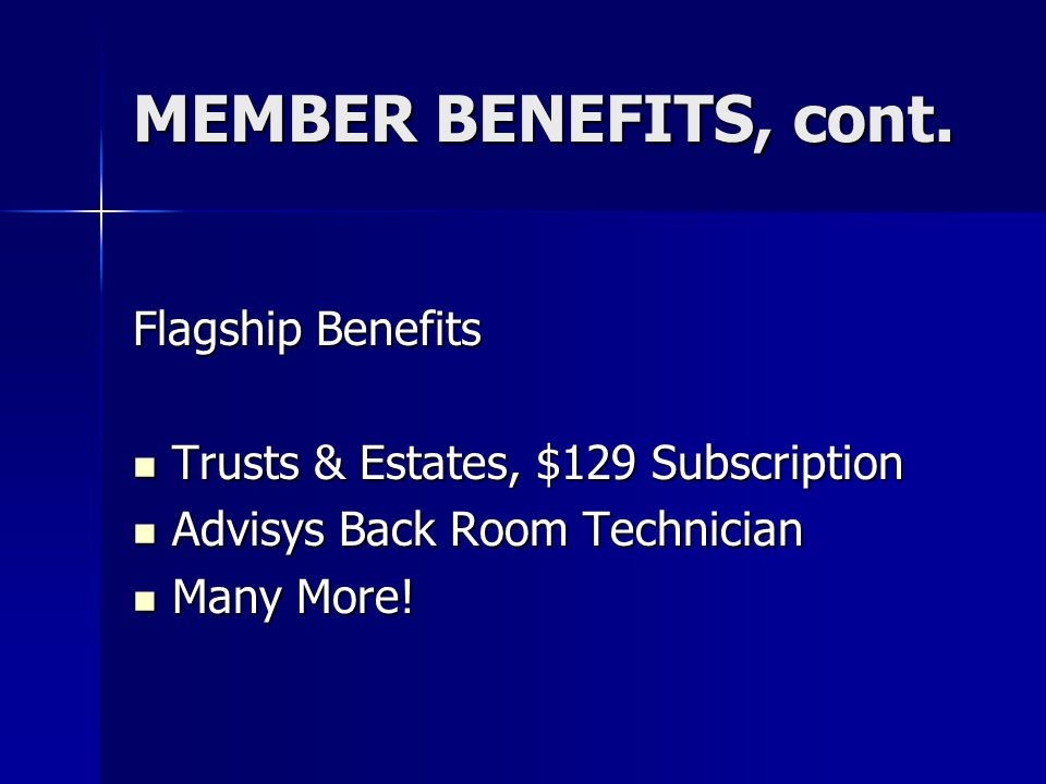 Accredited Estate Planner ® Designation Program, cont.