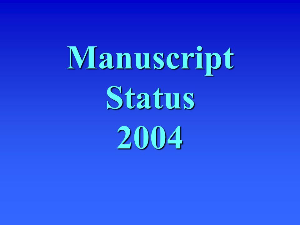 Manuscript Status 2004
