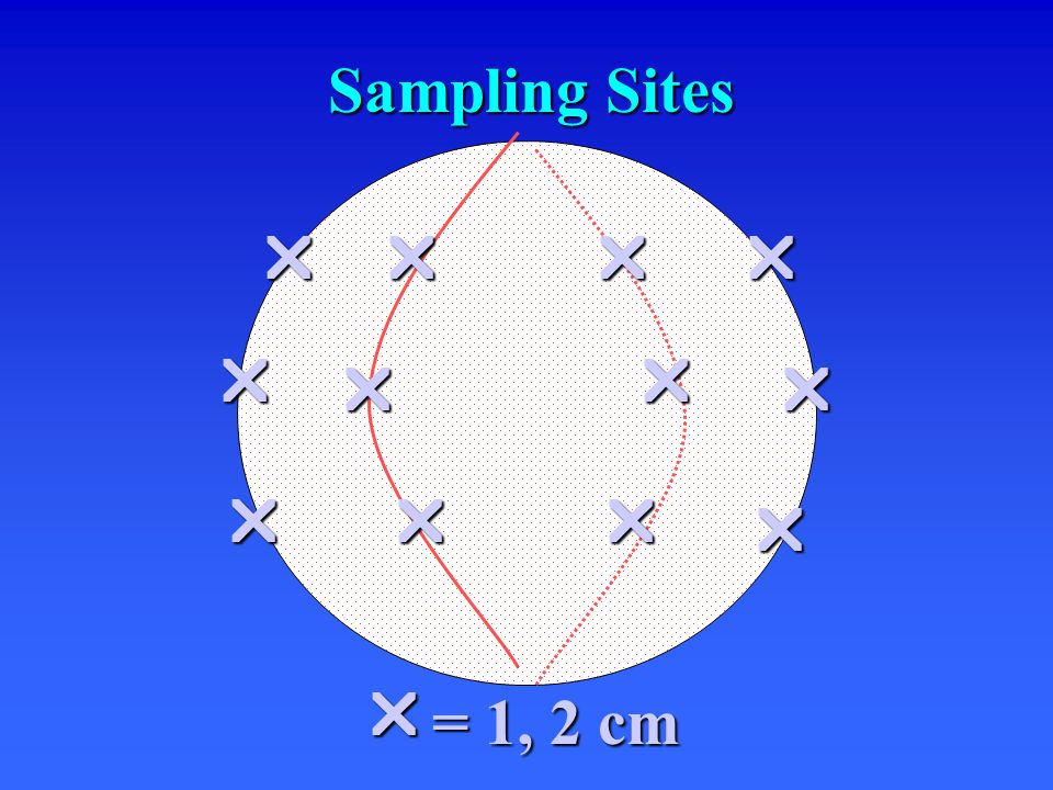          = 1, 2 cm Sampling Sites