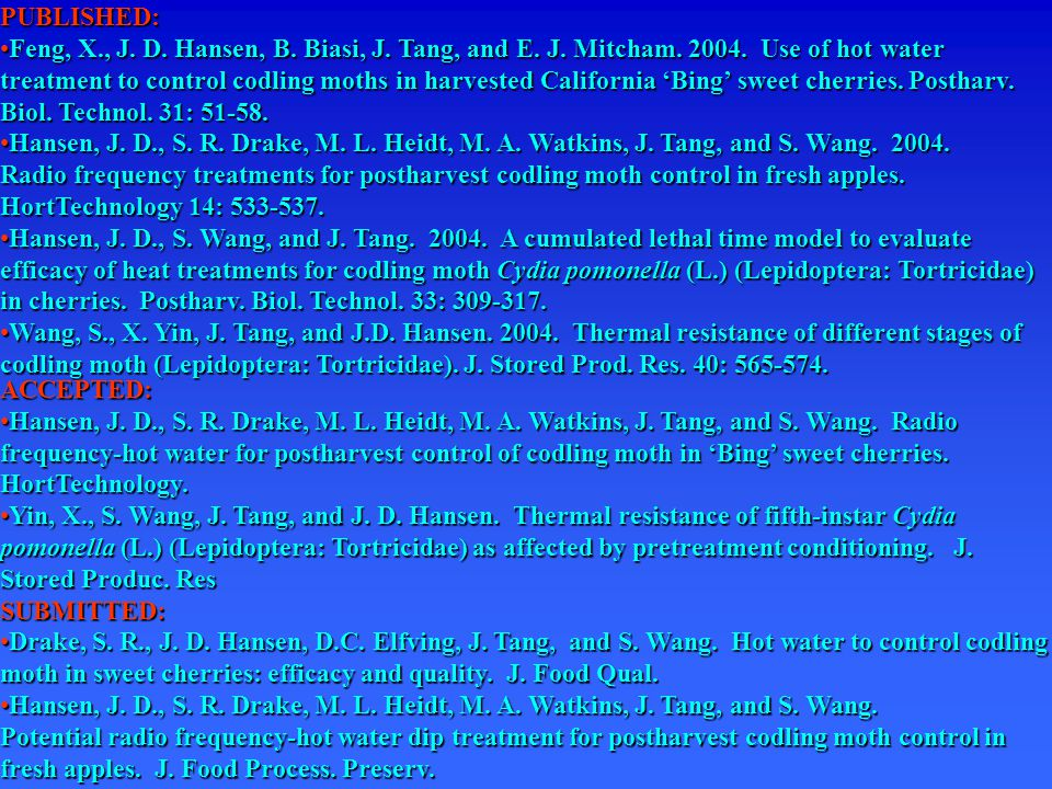 PUBLISHED: Feng, X., J.D. Hansen, B. Biasi, J. Tang, and E.