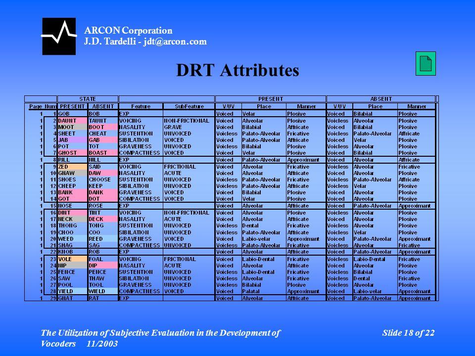ARCON Corporation J.D.