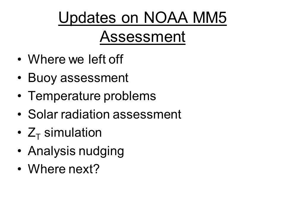 Solar Radiation Summary MM5 does a pretty good job of getting solar radiation correct.